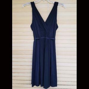 Theory Black Sleeveless Dress with ribbon tie